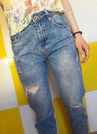 Джинсы mom fit jeans  s-m