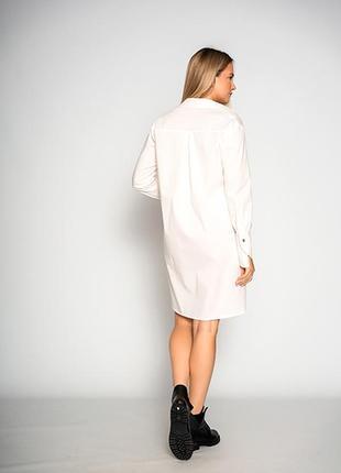 """Удлиненная женская белая блуза """"design""""6 фото"""