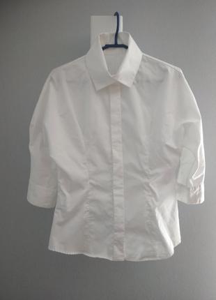 Оригинальная белая хлопковая рубашка