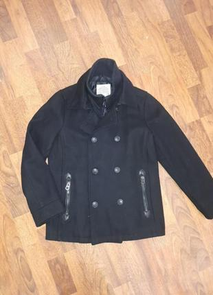 Драповое пальто куртка zara 9/10-140cm