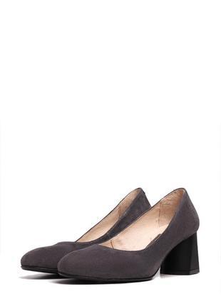 Туфли женские замшевые, внутри кожа