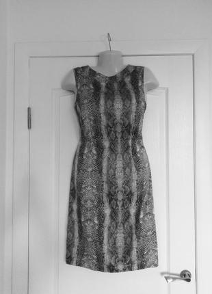 Легкое платье трендовый принт papaya 12