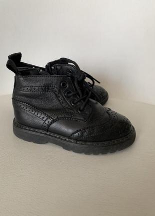 Ботинки челси черевики кожание zara