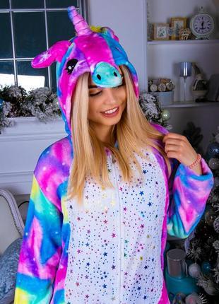 Кигуруми - пижама космос единорог пони детская / женская / мужская