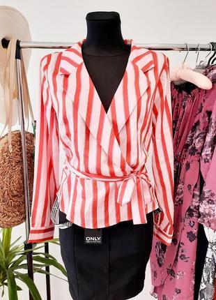 Новая блуза в полоску на запах