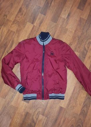 Двухстороння куртка бомбер benetton 146-154