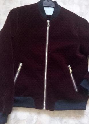 Велюровый бомбер куртка dorothy perkins
