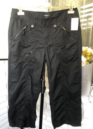 Бриджи капри коттоновые черные фирменные h&m размер 45
