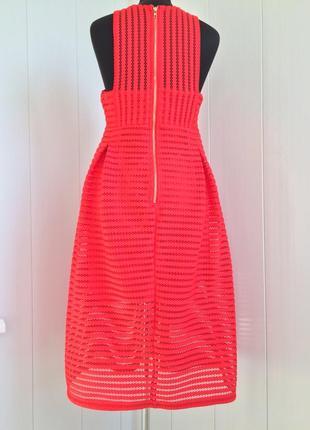 Роскошное красное вечернее коктейльное миди платье boohoo в стиле maje