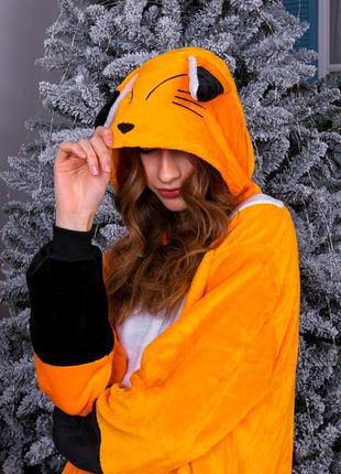 Кигуруми - пижама оранжевая лиса детская / женская / мужская