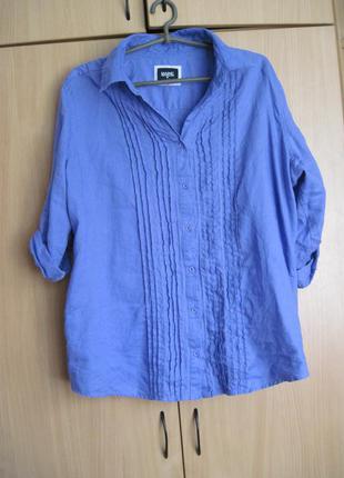 Блуза красивого сиреневого цвета, льняная 56р (18р)