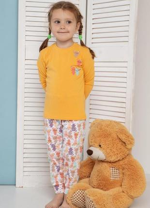 Пижама на девочку - маленькие мишки.