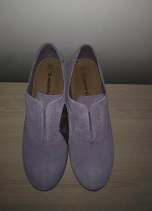 Туфли 42-43 р замшевые нежные3 фото