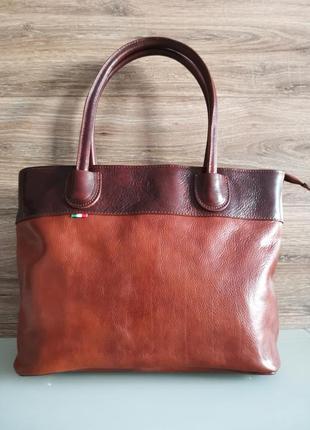Жіноча сумка коричневая 100% шкіра \ придбати жіночу сумку \ купить сумку на одно плечо