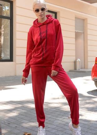 Роскошный спортивный костюм велюр
