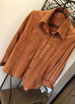 Нереально стильная рубашка из кожы