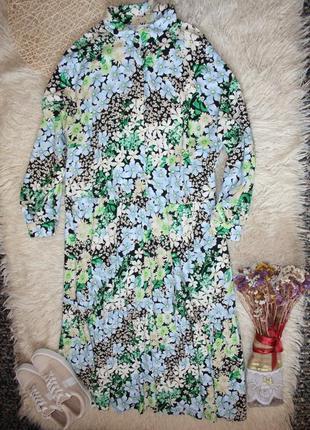 Красивое свободное платье в пол . длинное платье со шлярой . платье в цветы3 фото