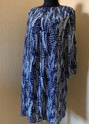 Красивое синее платье от h&m размер м