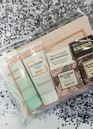 Набор миниатюр для всех типов кожи heimish all clean mini kit 5