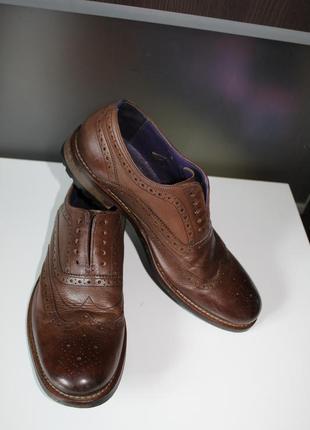 Правильные осенние туфли броги,оригинал ted baker,100% натуральная кожа1 фото