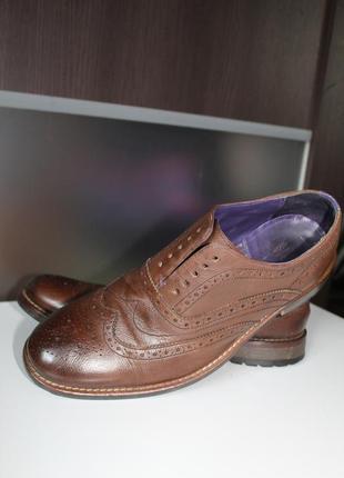 Правильные осенние туфли броги,оригинал ted baker,100% натуральная кожа2 фото