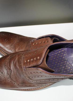 Правильные осенние туфли броги,оригинал ted baker,100% натуральная кожа7 фото