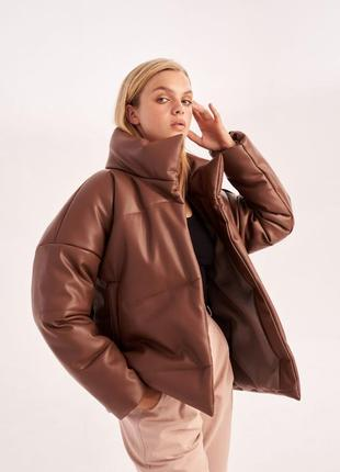 Шикарная стильная куртка эко-кожа1 фото
