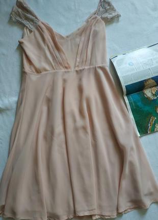 """Пудровое шифоновое платье-миди  """"boohoo"""" night2 фото"""