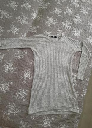 Туника платье кофта в рубчик1 фото