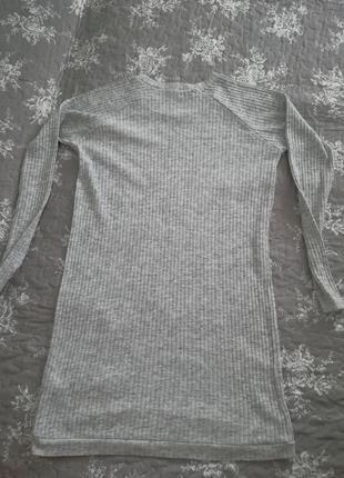 Туника платье кофта в рубчик4 фото