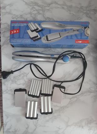 Утюжок для волос щипцы для завивки 3в1 clatronic hc 28472 фото