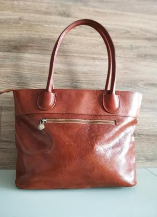 Vera pelle italy деловая женская итальянская коричневая сумка из кожи плечо италия купить2 фото