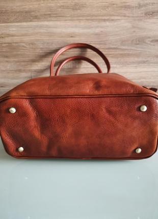Vera pelle italy деловая женская итальянская коричневая сумка из кожи плечо италия купить3 фото