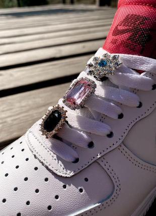 Nike air force шикарные женские кроссовки найк в белом цвете кожаные (36-40)💜5 фото
