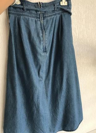 Длинная джинсовая юбка promod benetton2 фото