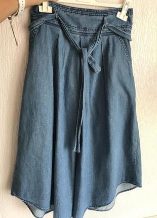 Длинная джинсовая юбка promod benetton1 фото