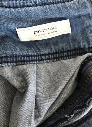 Длинная джинсовая юбка promod benetton3 фото