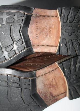 Правильные осенние туфли броги,оригинал ted baker,100% натуральная кожа8 фото