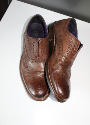 Правильные осенние туфли броги,оригинал ted baker,100% натуральная кожа4 фото