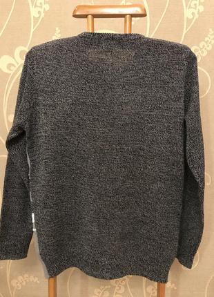 Нереально крутой брендовый вязаный свитер со снеговиком.2 фото