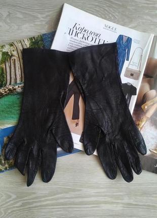Черные кожаные перчатки5 фото