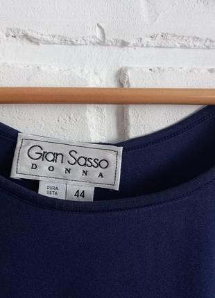 Лаконичный шелковый топ gran sasso5 фото