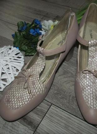 Кожаные туфли pia словения р.41 -27,5см1 фото