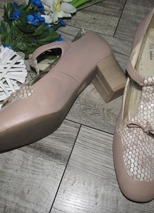 Кожаные туфли pia словения р.41 -27,5см4 фото