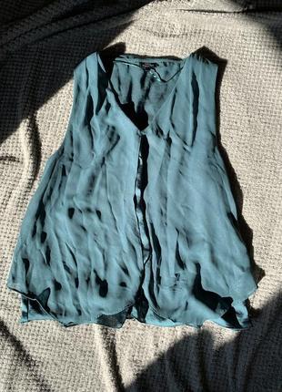 Зелёная блуза1 фото