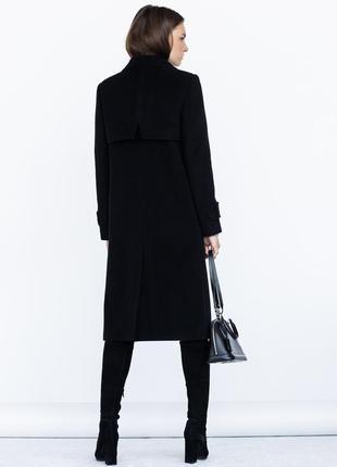 Пальто ровного кроя с манжетами шерсть зима демисезон3 фото
