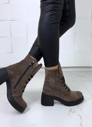 Ботиночки высок  натуральная замша3 фото
