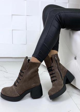 Ботиночки высок  натуральная замша7 фото