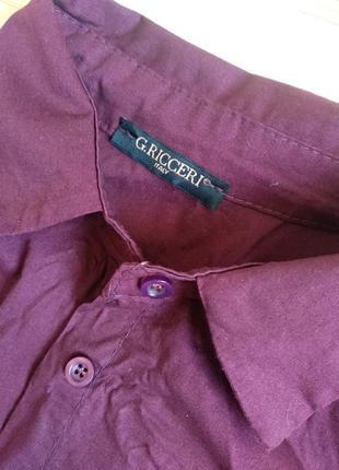 Базовая итальянская рубашка цвета бордо2 фото