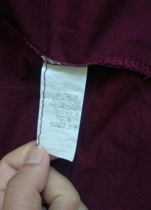 Базовая итальянская рубашка цвета бордо3 фото
